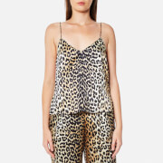 Ganni Women's Dufort Silk Top - Leopard