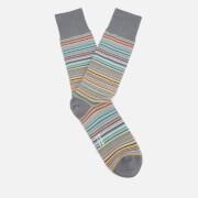 Paul Smith Men's Multi Stripe Socks - Grey