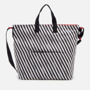 Lulu Guinness Women's Stripe Canvas Romy Tote Bag - Chalk/Red/Black
