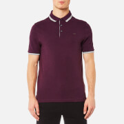 Michael Kors Men's Logo Collar Polo Shirt - Raisin Melange
