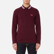 BOSS Green Men's Plisy Long Sleeve Polo Shirt - Medium Red