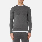 BOSS Green Men's Salbo Large Logo Sweatshirt - Medium Grey