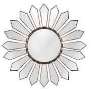 Premier Housewares Verona Petal Wall Mirror - Antique Gold Finish
