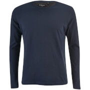 Brave Soul Men's Prague Long Sleeve Top - Navy