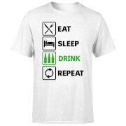 Beershield Eat Sleep Drink Repeat Men's T-Shirt