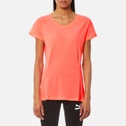 Puma Women's Core Run Short Sleeve T-Shirt - Peach