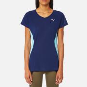 Puma Women's Core Run Short Sleeve T-Shirt - Blue Depths/Turquoise