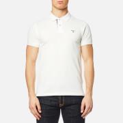 GANT Men's Contrast Collar Pique Short Sleeve Polo Shirt - Eggshell