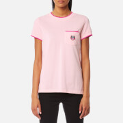 KENZO Women's Tiger Crest Straight T-Shirt - Faded Pink