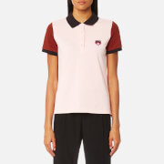 KENZO Women's Tiger Crest Buttoned Polo T-Shirt - Faded Pink
