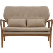Stockholm Two Seater Sofa - Birchwood/Beige