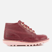 Kickers Kids' Kick Hi Boots - Burgundy