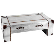 Fifty Five South New Aviator Two Drawer Coffee Table - Metallic