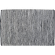 Fifty Five South Bosie Small Stripe 100% Cotton Woven Rug - Black/Multi Stripe