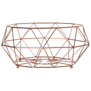 Vertex Iron Wire Fruit Basket - Copper Finish