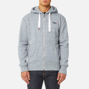 Superdry Men's Orange Label Zip Hoody - Glacier Blue Grit