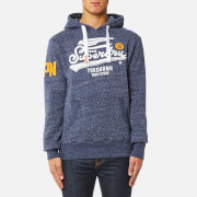 Superdry Men's High Flyers Hoody - Mid Atlantic Blue Grit