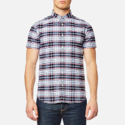 Superdry Men's Ultimate University Short Sleeve Oxford Shirt - Faculty White Check