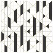 Kelly Hoppen Linear Geometric Metallic Wallpaper - Black/White