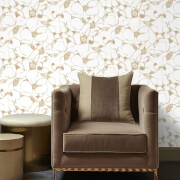 Kelly Hoppen Splash Metallic Wallpaper - Gold