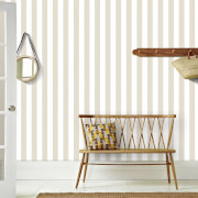 Superfresco Helen Glitter Stripe Wallpaper - Gold/Cream