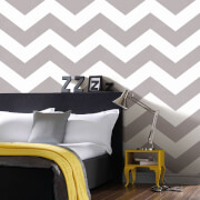 Superfreso Easy Chef Chevron Geometric Wallpaper - Grey