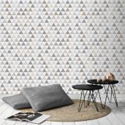 Superfresco Easy Tarek Geometric Wallpaper - Champagne