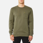 Lyle & Scott Men's Garment Dye Sweatshirt - Dusty Olive