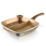 Tower Cerastone 2-in-1 Cast Grill Pan - 28cm - Gold