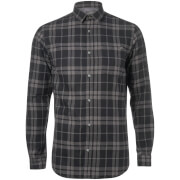Jack & Jones Men's Originals Bravo Long Sleeve Check Shirt - Black