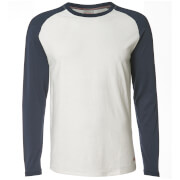 Jack & Jones Men's Originals New Stan Raglan Long Sleeve Top - Cloud Dancer