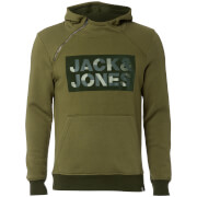 Jack & Jones Men's Core Kalvo Hoody - Capulet Olive