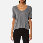 T by Alexander Wang Women's Classic Cropped T-Shirt with Chest Pocket - Heather Grey