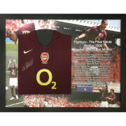 Thierry Henry Signed and Framed Arsenal Shirt