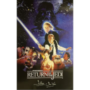 Star Wars: Return of the Jedi Framed Poster Signed by Dave Prowse (Darth Vader)