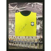 Carlos Alberto 1970 Brazil Signed and Framed Shirt