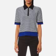 Diane von Furstenberg Women's Collared Knitted Shirt - Klein Blue