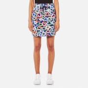 Love Moschino Women's Heart Short Skirt - Multi