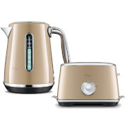 Sage by Heston Blumenthal BTA735RCH The Toast Select Luxe 2 Slice Toaster & Kettle - Royal Champagne
