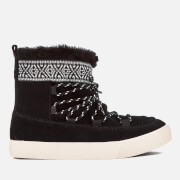 TOMS Women's Alpine Waterproof Suede Sheepskin Boots - Black