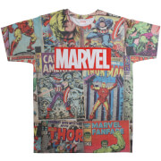 Marvel Men's Retro Comics Sub T-Shirt - White