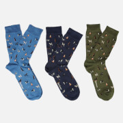 Barbour Men's Dog Motif Socks Gift Box - Multi