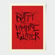 Affiche Stylée Buffy Contre les Vampires 30 x 40 cm