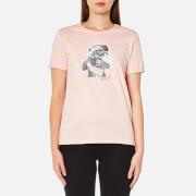 Karl Lagerfeld Women's Karl Head Photo T-Shirt - Rose Smoke