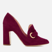 Rupert Sanderson Women's Monique Suede Heeled Shoes - Sangria