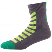 Sealskinz MTB Ankle Socks with Hydrostop - Grey/Green