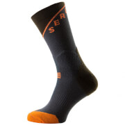 Sealskinz MTB Trail Mid Socks - Grey/Olive/Orange