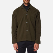 Our Legacy Men's Box Long Sleeve Shirt - Olive Ultimate Flannel