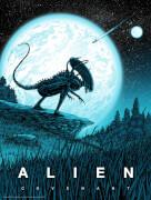 Affiche Phosphorescente Alien Covenant par Barry Blankenship - Édition Exclusive Limitée à Zavvi