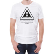 Warning Dad Jokes Men's White T-Shirt
